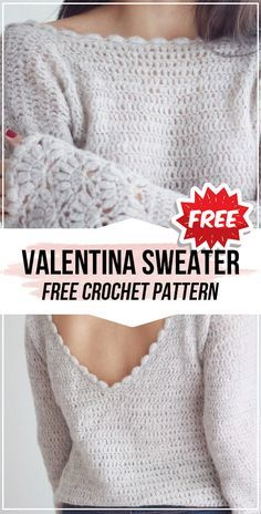 Crochet clothes 300756081366580943 - crochet Valentina Top Sweater free pattern – easy crochet sweatertop pattern for beginners Source by rosaurobrigitte Pull Crochet, Mode Crochet, Knit Crochet, Crochet Tops, Spiral Crochet, Easy Knitting Projects, Diy Vetement, Crochet Cardigan, Crochet Sweaters