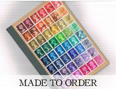 Retro Recycled Rainbow Medium A5 Notebook  by TangleCrafts on Etsy