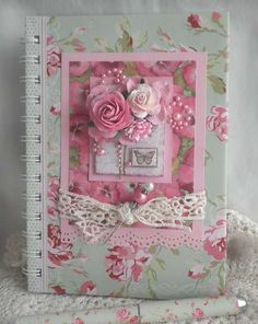 Gallery     Community Gallery   Settings   Add Images   My Gallery (View Profile) AllCards (11)Favs (135)Search+Add    Main   >                                           Shabby Chic Rose & Lace Journal Book                                            Shabby Chic Rose & Lace Journal Book