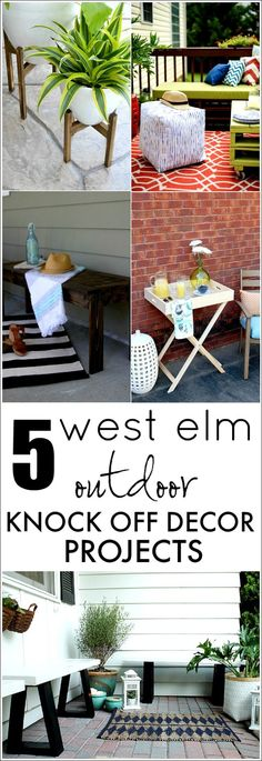 5 West Elm Knock Offs for your outdoor space! A little diy can go a long way when it comes to outdoor decor!