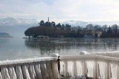 """Ζωντανή Εικόνα από """"Το Σουβλάκι του Βουνού"""", της λίμνης και της πόλης των Ιωαννίνων"""