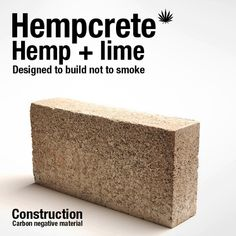 Low cost, fire-proof, high longevity, and a negative carbon footprint are only a few of the numerous amazing benefits of hempcrete. According to the U.S. Green Building Council, buildings account for 38% of the CO2 emission in America. One huge benefit of using hempcrete is that the hemp will absorb CO2 and release oxygen during its growth, as well as absorbing more CO2 due to the limestone and slowly petrifying. Over decades, its widespread use could have a fairly significant impact.