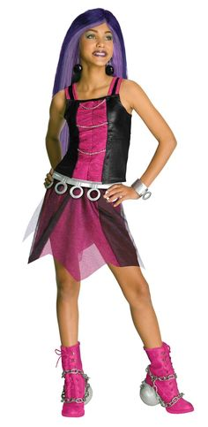 Monster High Spectra Vondergeist Kids Costume Small : Very colorful costume modeled after the popular Monster High character. Top, skirt, belt, and cuff. Shoes and wig not included. Monster Costumes, Girl Costumes, Children Costumes, Draculaura Costume, Wolf Costume, Monster High Characters, Bodysuit Costume, Halloween Costumes For Kids, College Girls