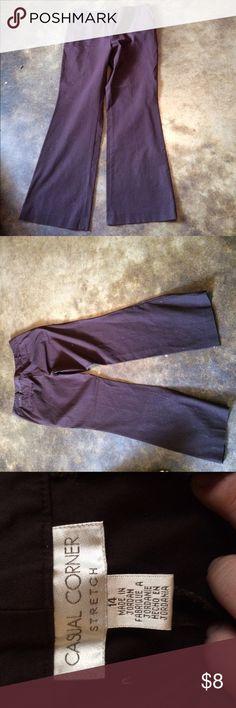 Women's size 14 Casual Corner color Plum Women's size 14 Casual Corner color Plum Casual Corner Pants Trousers