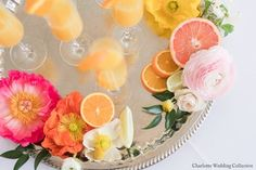 Photography by: Charlotte Wedding Collective // Spring Citrus wedding inspiration // Poppies // Coral Charm peonies // Clooney Ranunculus // Mimosas // Separk Mansion // Jimmy Blooms Floral