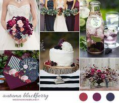 burgundy & blackberry fall wedding inspiration http://weddingwonderland.it/2015/08/matrimonio-autunnale-borgogna-blu.html