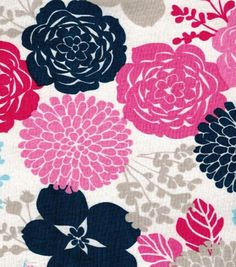 Keepsake Calico Fabric Pink/Blue Floral Baby Fabric, Cotton Fabric, Decoupage, Calico Fabric, Online Craft Store, Sewing Projects For Beginners, Joann Fabrics, Textile Patterns, Floral Motif