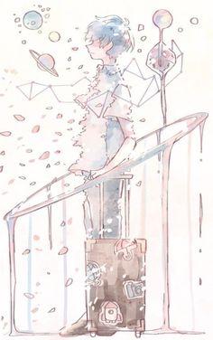 《 ♡ 》 – Zeichnungen – Home crafts Aesthetic Art, Aesthetic Anime, Aesthetic Drawing, Pretty Art, Cute Art, Japon Illustration, Anime Kunst, Boy Art, Art Girl