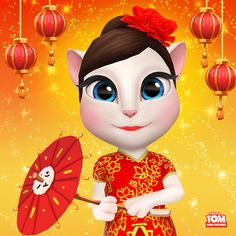 Happy Lunar New Year, #LittleKitties! Wishing you lots of good fortune for the year ahead! xo, Talking Angela #TalkingAngela #MyTalkingAngela #LunarNewYear #Lunar #China #ChinaNewYear #celebrate