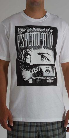 LRG Psychopath Tee in White-$28.00