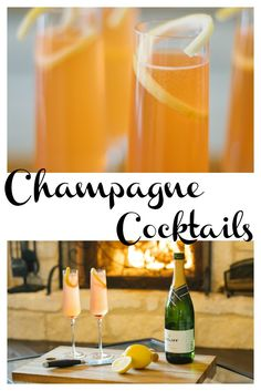Love this Champagne cocktail recipe! Best of all just 4 ingredients! #champagne #cocktail #itsfiveoclocksomewhere