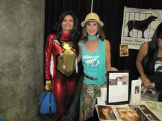 "Here I am with Linda Blair from ""The Exorcist"". Linda Blair, The Exorcist, Character Names, Comic Books, Sari, Celebrities, Fashion, Saree, Moda"
