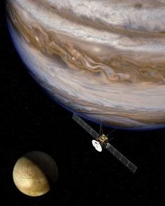Jupiter and one of its moons