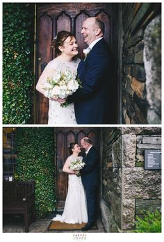 Bride and groom laughing during the portraits. Natural laughter. Wedding day inspirations. Romantic. Colourful. Creative wedding photographer. https://www.racheljoycephotography.co.uk