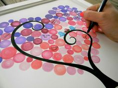 This will match the nursery best, the circles work in the shape of the heart too.