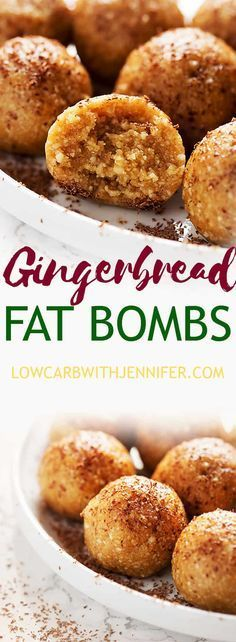This fat bomb recipe has all of the flavors of a gingerbread cookie with none of the carbs. #ketorecipes #ketofoods #lowcarbdiet #lowcarbrecipe #fatbomb