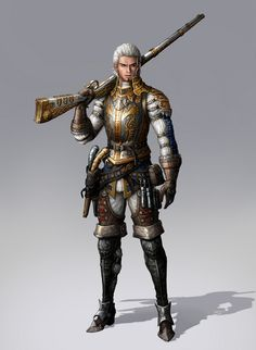 Artist 박준철, Student Portfolio for game, Character Concept Art… Steampunk Characters, Dnd Characters, Fantasy Characters, Fantasy Armor, Medieval Fantasy, Dark Fantasy, Character Concept, Character Art, Concept Art