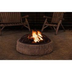 Sunjoy Vail 34-inch Fire Pit,, Outdoor Décor