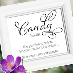 Wedding sign signs s Decoration Candy Buffet by weddingfusion
