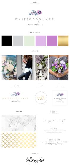 Whitewood Lane Events — Brand Board by Hello Big Idea