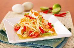 a flavor of Thai: Thai Papaya Salad with Salted Egg (Som Tam Khai-Khem)