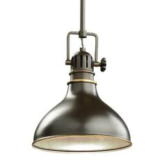 Kichler Industrial Mini Pendant in Bronze | Dome | Pendants | Lighting…