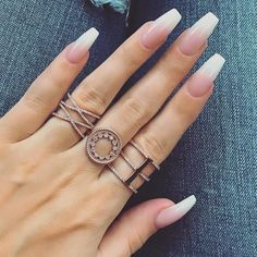 The Best Coffin Nails Ideas That Suit Everyone – Long Nails – Long Nail Art Designs Coffin Nails Ombre, White Coffin Nails, White Nails, Gel Nails, Nail Nail, White Manicure, Ombre Nail, Yellow Nails, Top Nail