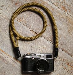 Camera Strap Hand knotted  Khaki  Strong Beautiful and by opart, $55.00