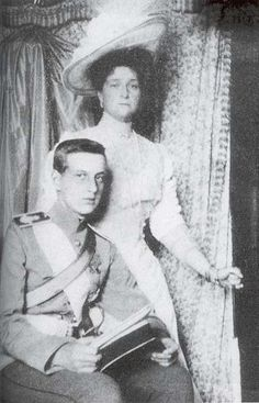"""Empress Alexandra with Grand Duke Dmitrii Pavlovich, who was raised by her sister """"Ella"""" Elizavetta Feodorovna. He along with Prince Felix Yussuppov later become involved in the murder of Rasputin."""