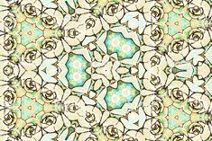Succulent Mandala in Watercolour Style - Royalty-free Art Stock Photo Photo Illustration, Image Collection, Image Now, My Images, Lush, Photo Art, Watercolour, Succulents, Royalty