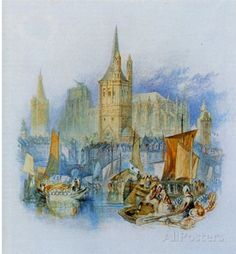Joseph Mallord William Turner (Cologne, Germany, Great St. Martin, City Hall and the Cathedral from Masterprint