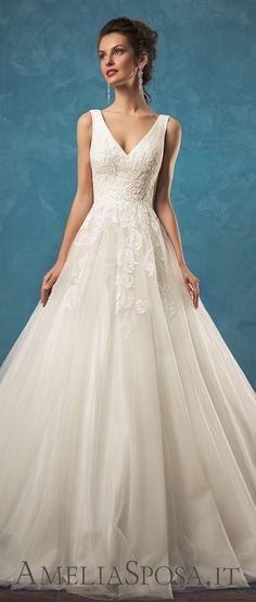 Amelia Sposa low V-cut back wedding dresses Emma