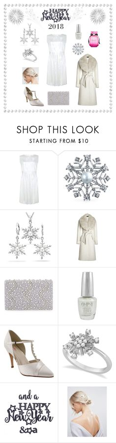 """""""New Year's Eve Party Winter White"""" by marnie1979 ❤ liked on Polyvore featuring Zambesi, Bling Jewelry, Sentaler, Nina, OPI, Rainbow Club, Allurez, ASOS, Victoria's Secret and contestentry"""