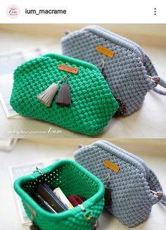 Easy Crochet, Crochet Lace, Clutch Purse, Coin Purse, Crochet Bag Tutorials, Macrame Purse, Crochet Clutch, Macrame Patterns, Handicraft