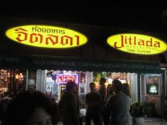 Jitlada Thai Food - largest menu ever of the best thai food!  best kept secret of Hollywood even tho it's been around forever!  5233 Sunset Boulevard  Los Angeles, CA 90027  (323) 663-3104
