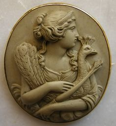 Georgeous Antique Lava Cameos: Hera.  Probably made for the tourist trade - Victorian through Edwardian Brits and Americans on their Grand Tour typically purchased these