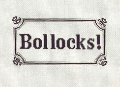 Bollocks embroidery on sofa.com