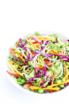 Asian Cucumber Noodle Salad Recipe on twopeasandtheirpod.com This bright, colorful, and healthy Asian salad is always a favorite! Make it today!