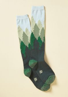 - Fir the Fun of It Socks. Looking for the perfect reason to flaunt these pine tree knee socks? Fir the Fun of It Socks. Looking for the perfect reason to flaunt these pine tre… Funky Socks, Crazy Socks, Cute Socks, My Socks, High Socks, Fall Socks, Awesome Socks, Winter Socks, Happy Socks