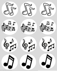 Music Notes Cupcake Fairy Cake Toppers Edible Rice Wafer Paper