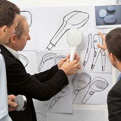 Hansgrohe Raindance Select - Simpler Is Better by Phoenix Design, via Behance Design Thinking Process, Design Process, Mind Map Art, Typography Sketch, Innovation Strategy, Phoenix Design, Industrial Design Sketch, Design Basics, Box Design