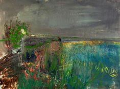 "kundst: ""Joan Eardley (UK Figure in a field, Catterline (c. Oil, soil and sand on board x How beautiful. she died far too young. Landscape Artwork, Abstract Landscape, Abstract Art, Art And Illustration, Glasgow School Of Art, Beautiful Paintings, Contemporary Paintings, Painting Inspiration, Female Art"