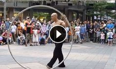 IssacWu, anamazing street performer inTaipei, will take your breath away. This isstreet performing atits best. Can't imagine the training ittook tocreate this piece ofmoving body art!