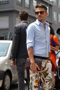 Floral trousers for men ! Fashion gone crazy!