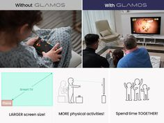 GLAMOS-CoreDAR is raising funds for GLAMOS: Bring Your Touchless Screens To Life on Kickstarter! Designed by ex-Samsung engineers Glamos is a small device that uses LIDAR tech to turn any screen into a fully interactive touch screen Tv Fr, Interactive Touch Screen, Screen Size, Smart Tv, Physical Activities, Screens, Facial, Bring It On, Projects