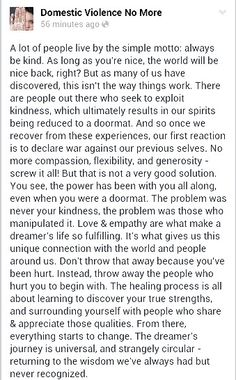Your love and empathy.  Narcissistic Abuse