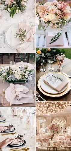 elegant pink wedding table setting ideas