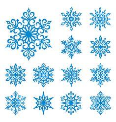 Snowflakes set vector 114257 - by rosinka on VectorStock�