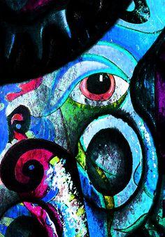 'Astratto Viso' Artwork By Catherine Harms www.catherineharmsart.com www.sarahfimm.com www.poweredbydreaming.com