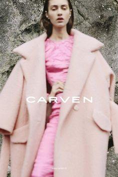 A Carven advertisement, F/W 2013. Model Marine Deleeuw photographed by Viviane Sassen.